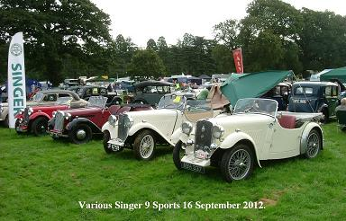 Picture of classic car show