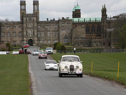 Classic cars and motor vehciles attending motor rallies in the UK